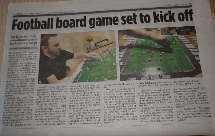 Evening News article